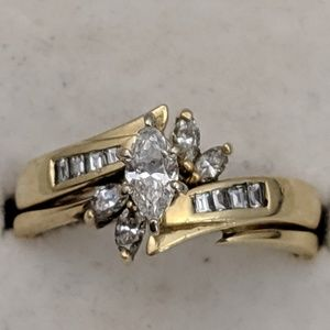 Jewelry - 14k Gold Diamond Ring Set